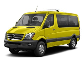 Calcite Yellow Metallic 2016 Mercedes-Benz Sprinter Passenger Vans Pictures Sprinter Passenger Vans Passenger Van photos front view