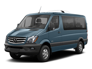 Brilliant Blue Metallic 2016 Mercedes-Benz Sprinter Passenger Vans Pictures Sprinter Passenger Vans Passenger Van photos front view