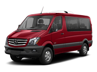 Flame Red 2016 Mercedes-Benz Sprinter Passenger Vans Pictures Sprinter Passenger Vans Passenger Van photos front view