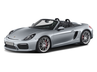 Rhodium Silver Metallic 2016 Porsche Boxster Pictures Boxster Roadster 2D Spyder H6 photos front view