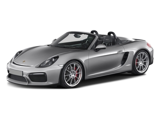 GT Silver Metallic 2016 Porsche Boxster Pictures Boxster Roadster 2D Spyder H6 photos front view