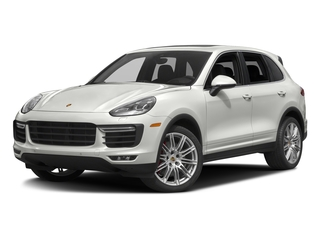 White 2016 Porsche Cayenne Pictures Cayenne Utility 4D AWD V8 Turbo photos front view