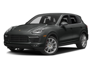 Jet Black Metallic 2016 Porsche Cayenne Pictures Cayenne Utility 4D AWD V8 Turbo photos front view