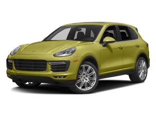 Peridot Metallic 2016 Porsche Cayenne Pictures Cayenne Utility 4D AWD V8 Turbo photos front view