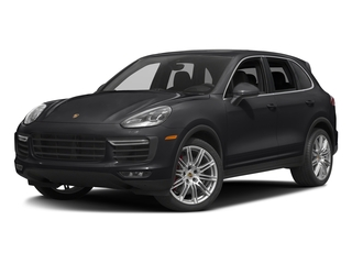 Black 2016 Porsche Cayenne Pictures Cayenne Utility 4D AWD V8 Turbo photos front view