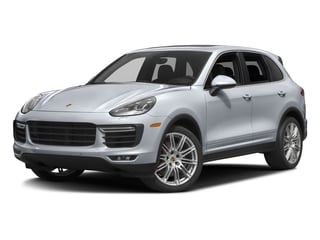 Rhodium Silver Metallic 2016 Porsche Cayenne Pictures Cayenne Utility 4D AWD V8 Turbo photos front view