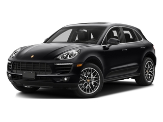 Black 2016 Porsche Macan Pictures Macan Utility 4D AWD V6 Turbo photos front view