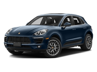 Dark Blue Metallic 2016 Porsche Macan Pictures Macan Utility 4D AWD V6 Turbo photos front view