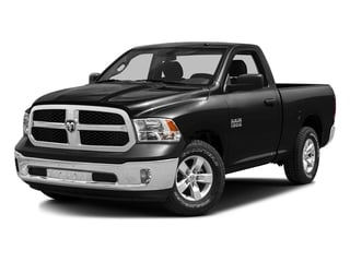Black Clearcoat 2016 Ram Truck 1500 Pictures 1500 Regular Cab SLT 2WD photos front view