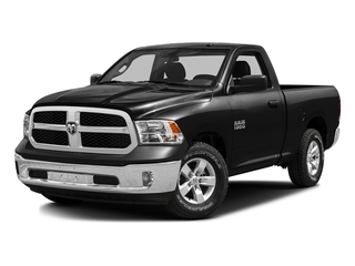 Black Clearcoat 2016 Ram Truck 1500 Pictures 1500 Regular Cab SLT 4WD photos front view