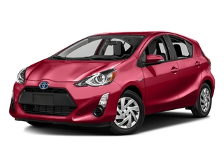 Absolutely Red 2016 Toyota Prius c Pictures Prius c Liftback 5D c I4 Hybrid photos front view
