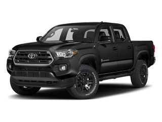 Black 2016 Toyota Tacoma Pictures Tacoma SR5 Crew Cab 4WD V6 photos front view