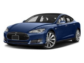 Deep Blue Metallic 2016 Tesla Motors Model S Pictures Model S Sed 4D D Performance 90 kWh AWD Elec photos front view