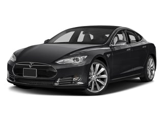 Obsidian Black Metallic 2016 Tesla Motors Model S Pictures Model S Sed 4D D Performance 90 kWh AWD Elec photos front view