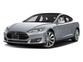Silver Metallic 2016 Tesla Motors Model S Pictures Model S Sed 4D D Performance 90 kWh AWD Elec photos front view