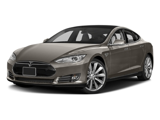 Titanium Metallic 2016 Tesla Motors Model S Pictures Model S Sed 4D D Performance 90 kWh AWD Elec photos front view