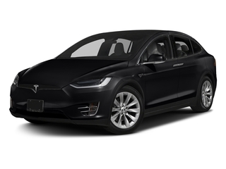 Obsidian Black Metallic 2016 Tesla Motors Model X Pictures Model X Utility 4D Performance AWD photos front view