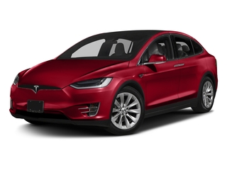 Red Multi-Coat 2016 Tesla Motors Model X Pictures Model X Utility 4D Performance AWD photos front view