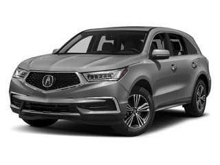 Lunar Silver Metallic 2017 Acura MDX Pictures MDX Utility 4D AWD V6 photos front view
