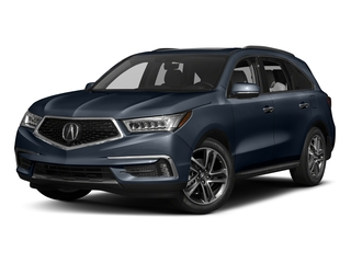 Fathom Blue Pearl 2017 Acura MDX Pictures MDX Utility 4D Advance AWD V6 photos front view