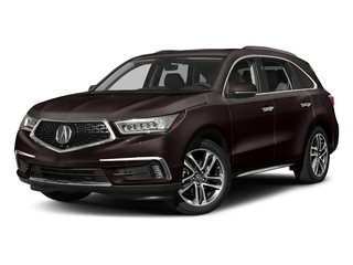 Black Copper Pearl 2017 Acura MDX Pictures MDX Utility 4D Advance DVD AWD V6 photos front view