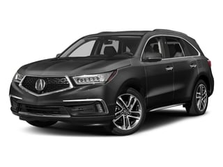 Modern Steel Metallic 2017 Acura MDX Pictures MDX Utility 4D Advance DVD AWD V6 photos front view