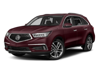 Dark Cherry Pearl 2017 Acura MDX Pictures MDX Utility 4D Advance DVD AWD V6 photos front view