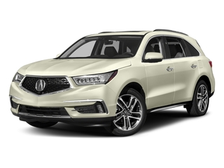 White Diamond Pearl 2017 Acura MDX Pictures MDX Utility 4D Advance DVD AWD V6 photos front view