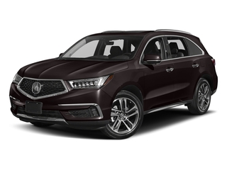 Black Copper Pearl 2017 Acura MDX Pictures MDX Utility 4D Advance DVD 2WD V6 photos front view