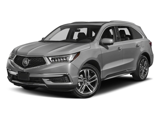 Lunar Silver Metallic 2017 Acura MDX Pictures MDX Utility 4D Advance DVD 2WD V6 photos front view