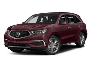Dark Cherry Pearl 2017 Acura MDX Pictures MDX Utility 4D Technology DVD 2WD V6 photos front view