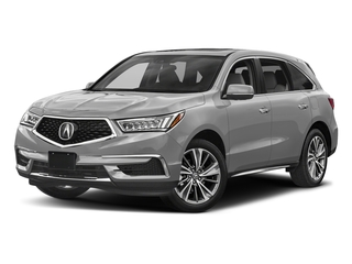Lunar Silver Metallic 2017 Acura MDX Pictures MDX Utility 4D Technology DVD AWD V6 photos front view