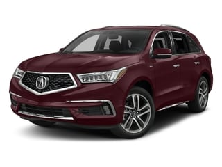 Dark Cherry Pearl 2017 Acura MDX Pictures MDX Utility 4D Advance AWD Hybrid photos front view