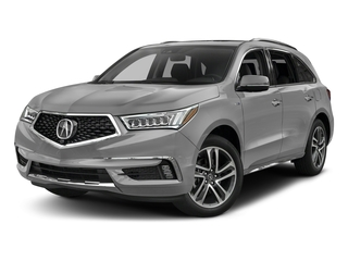 Lunar Silver Metallic 2017 Acura MDX Pictures MDX Utility 4D Advance AWD Hybrid photos front view