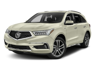 White Diamond Pearl 2017 Acura MDX Pictures MDX Utility 4D Advance AWD Hybrid photos front view