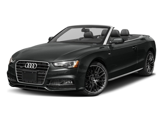 Mythos Black Metallic/Black Roof 2017 Audi A5 Cabriolet Pictures A5 Cabriolet Convertible 2D Sport AWD photos front view
