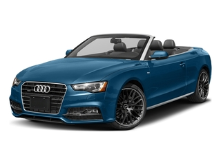 Sepang Blue Pearl Effect/Black Roof 2017 Audi A5 Cabriolet Pictures A5 Cabriolet Convertible 2D Sport AWD photos front view