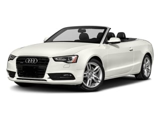 Ibis White/Black Roof 2017 Audi A5 Cabriolet Pictures A5 Cabriolet Convertible 2D Sport AWD photos front view