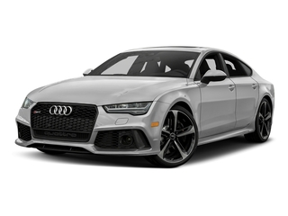Glacier White Metallic 2017 Audi RS 7 Pictures RS 7 Sedan 4D RS7 Performance AWD photos front view