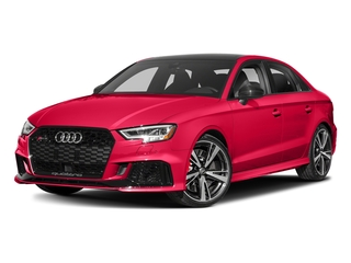 Catalunya Red Metallic 2017 Audi RS 3 Pictures RS 3 Sedan 4D RS3 AWD photos front view