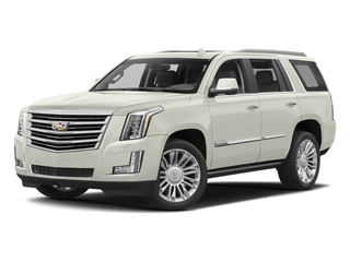 Crystal White Tricoat 2017 Cadillac Escalade Pictures Escalade Utility 4D Platinum 2WD V8 photos front view