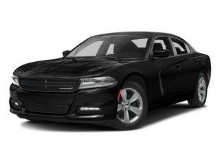 Pitch Black Clearcoat 2017 Dodge Charger Pictures Charger Sedan 4D SXT AWD V6 photos front view