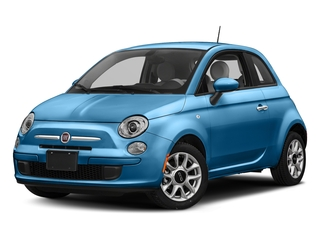 Laser Blu (Bright Metallic Blue) 2017 FIAT 500 Pictures 500 Lounge Hatch photos front view