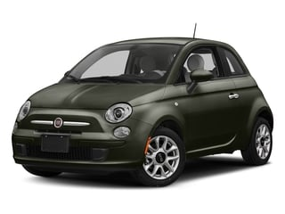 Verde Oliva (Olive Green) 2017 FIAT 500 Pictures 500 Lounge Hatch photos front view