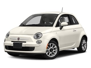 Bianco (White) 2017 FIAT 500 Pictures 500 Lounge Hatch photos front view
