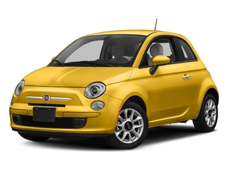 Giallo Moderna Perla (Pearl Yellow Tri-Coat) 2017 FIAT 500 Pictures 500 Lounge Hatch photos front view