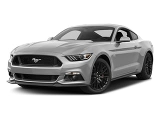 Ingot Silver Metallic 2017 Ford Mustang Pictures Mustang Coupe 2D GT V8 photos front view