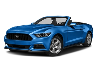 Grabber Blue 2017 Ford Mustang Pictures Mustang Convertible 2D V6 photos front view