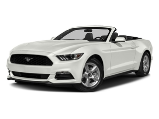 White Platinum Metallic Tri-Coat 2017 Ford Mustang Pictures Mustang Convertible 2D V6 photos front view