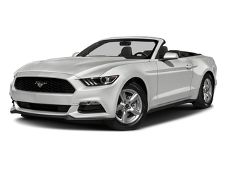 Oxford White 2017 Ford Mustang Pictures Mustang Convertible 2D V6 photos front view